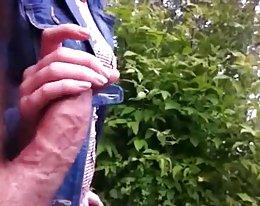 Flash mummi ja saada handjob (cum on mummo)